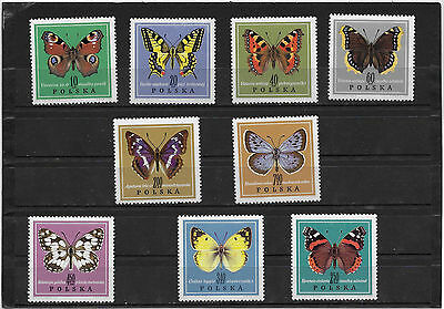 Pologne N° 1651 A 1659   Neuf**   Papillons