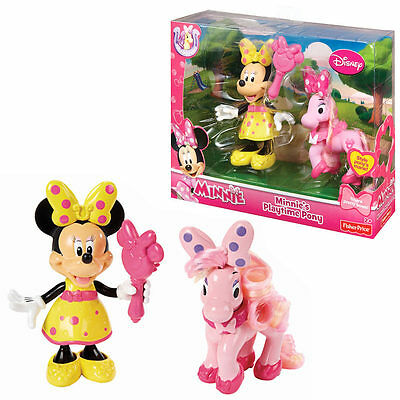 Disney Minnie Mouse Fisher Price Playtime Pony Toy Game Pink Polka Accessory Set