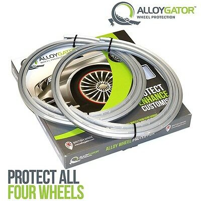 Alloygator Alloy Wheel Rim Protection Band System Set Of 4 In Silver
