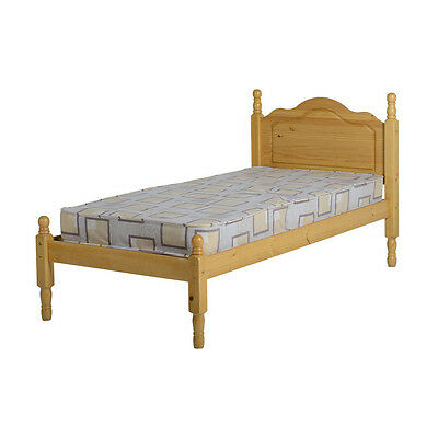Sol Bed Frame - Single 3ft - Antique Pine - Wooden with Headboard