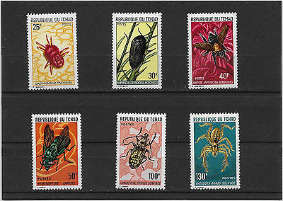 Tchad  N° 291 A 296  Neuf**  Insectes