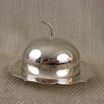 Vintage Butter Dish Silver Plated dome Cover Plate Preserve Jam Cover Cloche