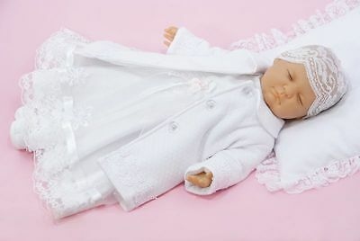 Smart Baby Girls White Coat Christening Warm Quilted Party Coat 0-3-6-9-12-18 M