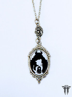 Beauty and the Beast Inspired Silhouette Cameo Necklace
