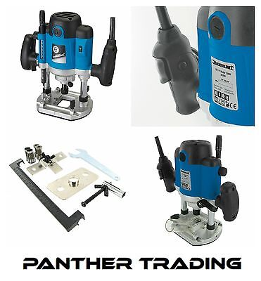 """Silverline Powerful 1500W 1/2"""" Plunge Router With Soft Start Technology - 264895"""