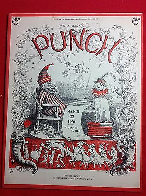 Vintage : PUNCH Magazine : 22nd March 1950