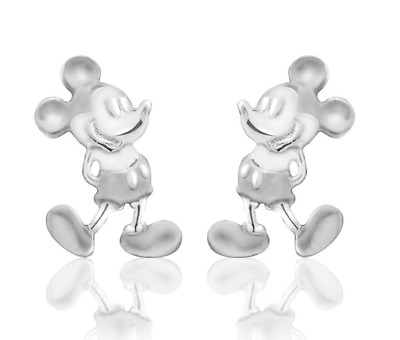 Disney Park Authentic Earrings✿925 Sterling Silver Mickey Mouse Boxed Gift Ready