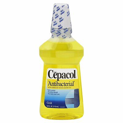 Cepacol Antibacterial Multi-Protection Mouthwash Gold - 24 Oz (Pack of 3)