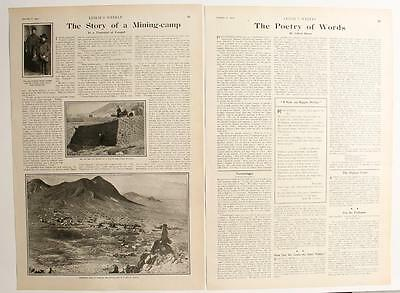 """Tonopah, Nevada ~ """" The Story of a Mining-camp """" 1903 article in LESLIE'S WEEKLY"""