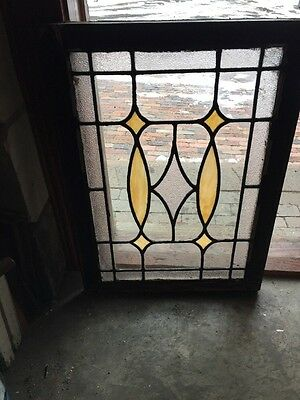 "Sg 993 Antique Stainglass Window 24.5"" X 33 3/4"""