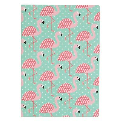 Tropical Flamingo A5 Notebook, Plain Paper, Fun Present Gift, Teenage, All Ages