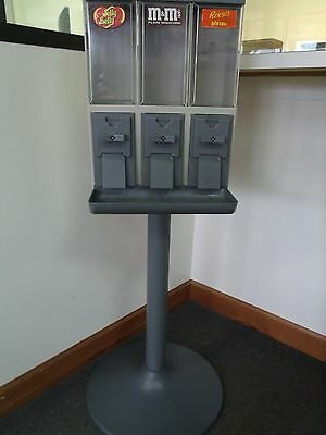 (Lot Of 4) Vendstar 3000 Candy Machine Original With Manual & Keys