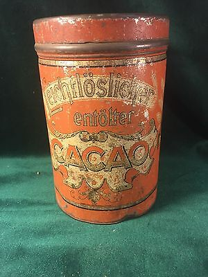 Cacao Cocoa Advertising Large Red Store Tin~ Leichtloslicher ~ Germany