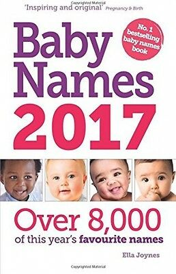 Baby Names 2017 NEW Paperback Book Family Birth Pregnancy Parent Childrens