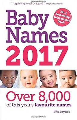 Baby Names Book 2017 NEW Paperback Family Birth Pregnancy Parent Childrens