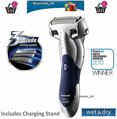 Panasonic 3Blade Electric Shaver ESSL41S Wet Dry Popup Trimmer Men Stainless NEW