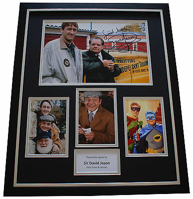 David Jason SIGNED Framed Photo Autograph Huge display Only Fools & Horses COA