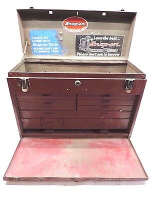 Vintage Kennedy Precision Steel Instrument 8 Drawer Toolbox Tool Box Chest Red