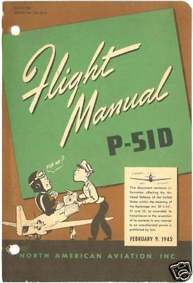 Reprint Wwii P-51D Flight Manual Na-5914 1945