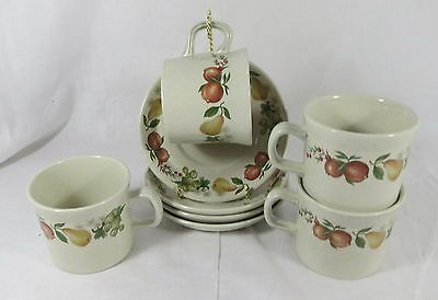 4 Quince Cup and Saucers by Wedgwood