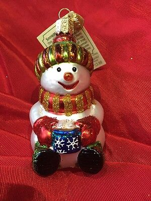 Snowman With Cocoa (24167) Old World Christmas Ornament
