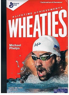 Wheaties Box  *michael Phelps 2016 Olympics 15.6 Oz Box Empty *270