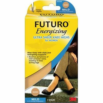 FUTURO Ultra Sheer Knee Highs for Women, Medium Nude