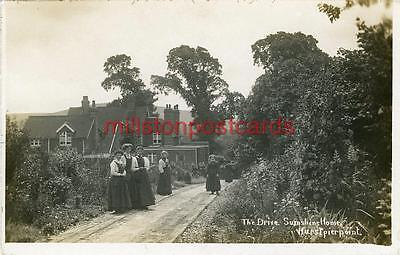 """Real Photographic Postcard Of The Drive, """"sunshine Home"""", Hurstpierpoint, Sussex"""