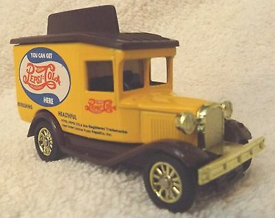 "Vintage Pepsi Diecast Model ""a"" Delivery Truck--Yellow & Brown--3"" Long--Nice!"