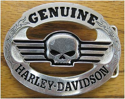 "Harley-Davidson New Mens Limited Series #1 Belt Buckle Skull 3-1/2"" by 2-1/2"""