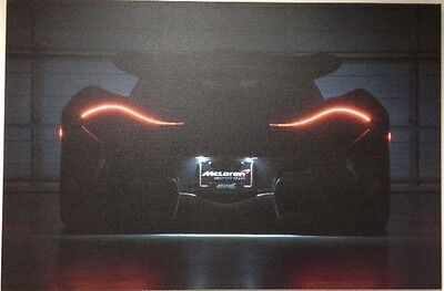 "McLaren P1 Tail Lights Canvas Print 36"" X 24"" X 1"""