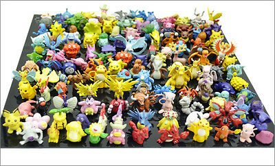 48 Pcs Mini Pokemon Action Figure Figurine Cake Topper Party Favor Toy (Random)