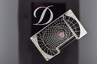 St Dupont Shoot The Moon Linge 2 Line 2 Limited Edition Lighter Black Lacquer