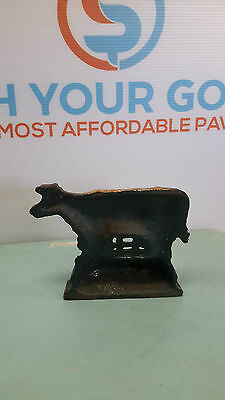 cast iron cow shoe cleaner paper weight
