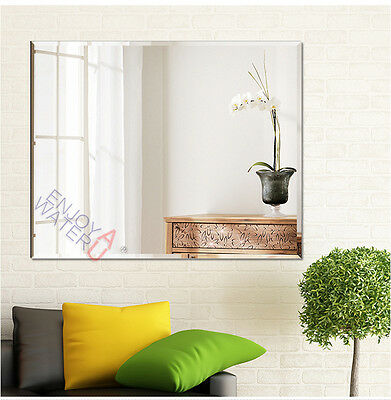 1200 X 900mm Bathroom Large Mirror Bevel Edge Wall Mounted Rectangle Frameless