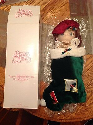 "Precious Moments Doll ""Holly"" 1999 Collectible Stocking"