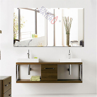 1500X900mm Bathroom Mirror Large Bevel Edge Wall Mounted Rectangle Frameless NEW