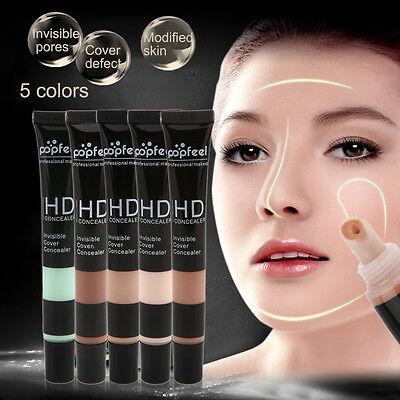 5 Colors Popfeel Woman Face Contouring Highlighter Concealer Cream Palette WL