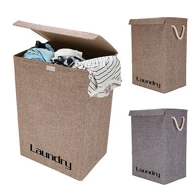 Large Laundry Baskets Washing Clothes Storage Bathroom Folding Basket With Lid