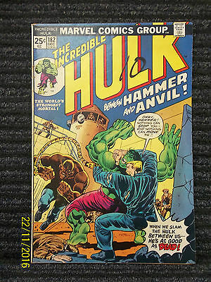 The Incredible Hulk Vol 1 Number 182 Comic Book Good Very Fine Condition