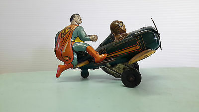 Louis Marx & Company Superman Original Wind Up Tin Toy Very Rare