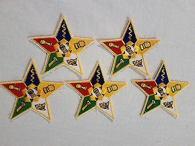 lot 5 Masonic Freemasons Order Of The Eastern Star Hat Jacket Patches Crests