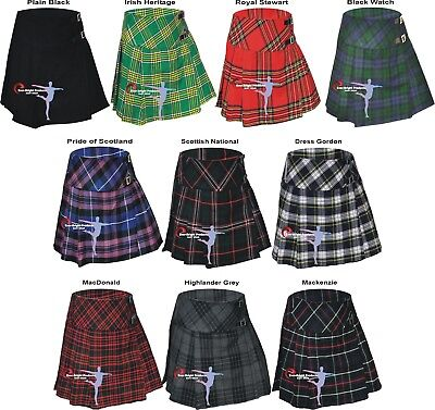 "Ladies women's kilt, Tartan Scottish pleated Billie Kilt skirts size 26""to 50"""