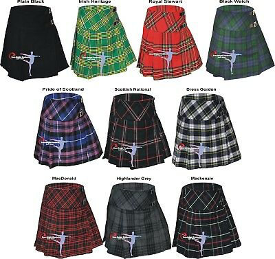 "New Ladies Tartan Scottish pleated Billie Kilt skirts size 26""to 42"""