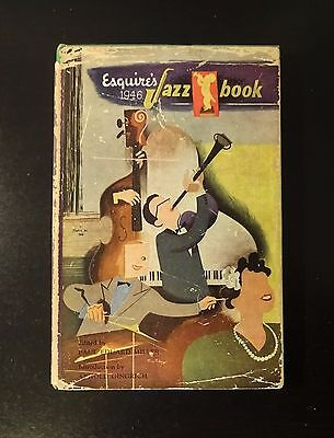 """ESQUIRE'S 1946 JAZZ BOOK With Map of """"Chicago Jazz Spots"""" Ellington Armstrong VG"""