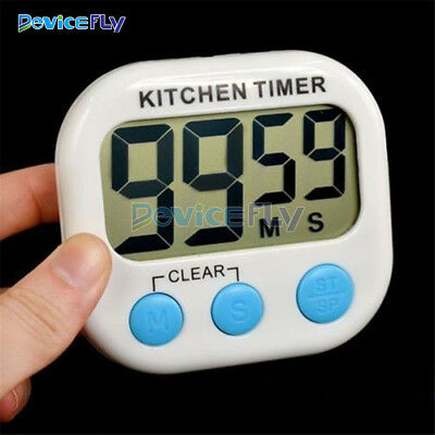 New Large LCD Digital Timer Kitchen Cooking Count-Down Up Loud Alarm Magnetic