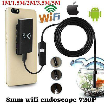 6LED Wifi Endoscope Waterproof Inspection 720P Camera For iPhone Android /IOS OG