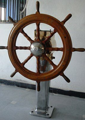 Real ANTIQUE A/s Frydenbo 1975 STEERING with BASE - Brass -Heavy Weight -RARE