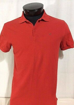 J Lindeberg Red Golf Short Sleeve Shirt Large