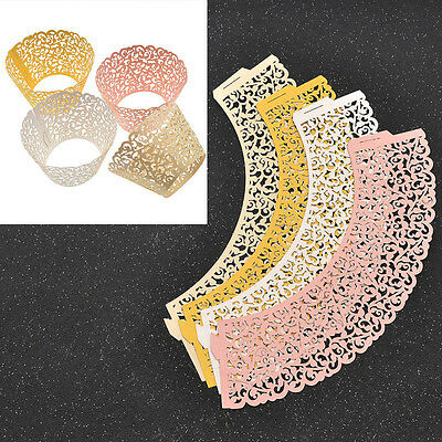 120 Pcs Hollow Out Lace Cupcake Holder Decorative Wrapper Liners Wedding Party